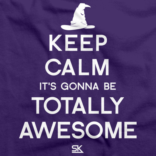 Keep Calm It's Gonna Be Totally Awesome Purple art preview