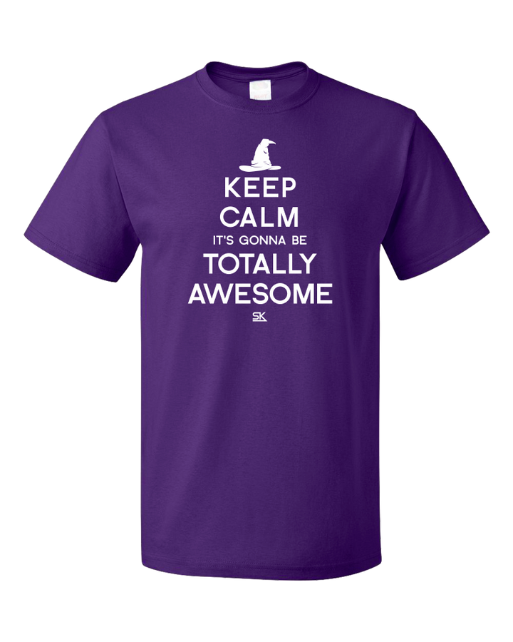 Standard Purple Keep Calm It's Gonna Be Totally Awesome T-shirt