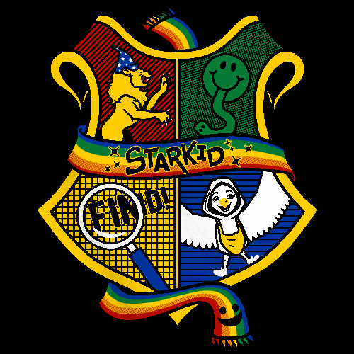 StarKid 4-House Crest Black Art Preview