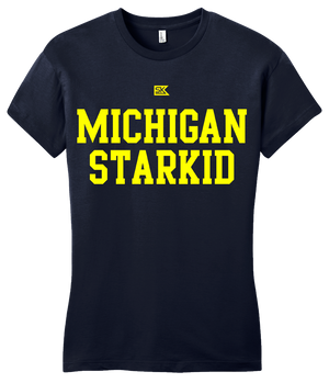 Girly Navy Michigan Starkid T-shirt