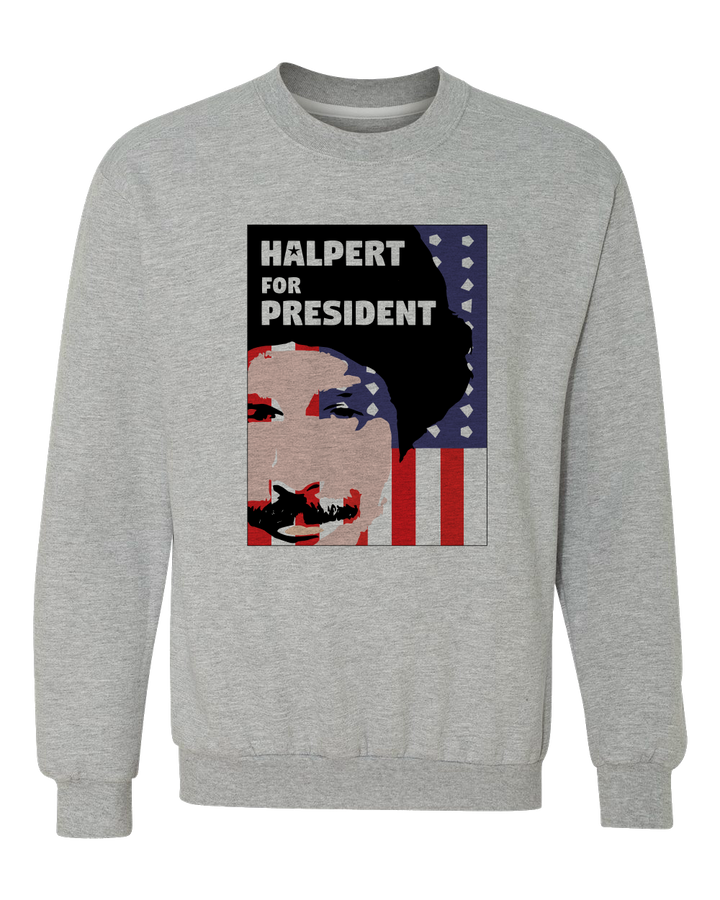 Crewneck Sweatshirt Grey Movies, Musicals, and Me - Halpert for President Crewneck sweatshirt