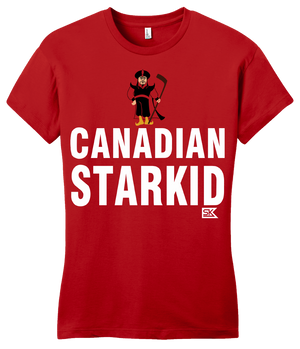 Girly Red StarKid CANADIAN STARKID T-shirt