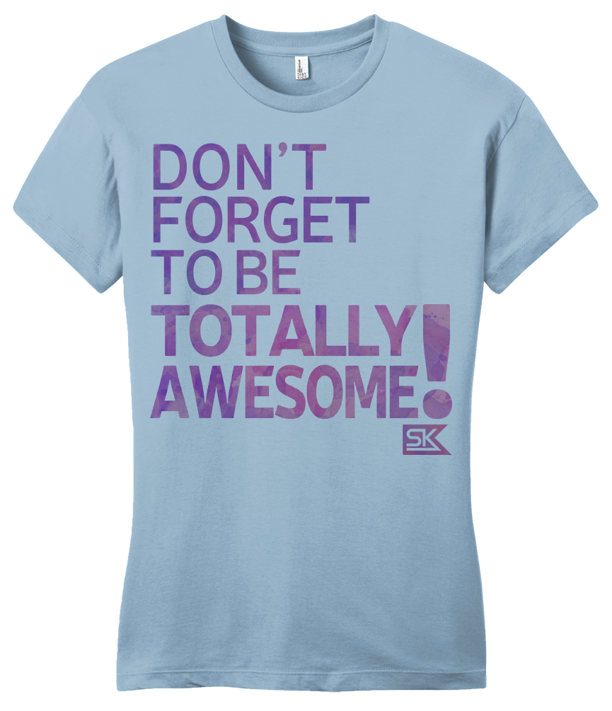 Girly Light Blue StarKid DFTB-Totally Awesome T-shirt