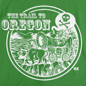 StarKid Trail to Oregon Happy Trails T-shirt Green art preview