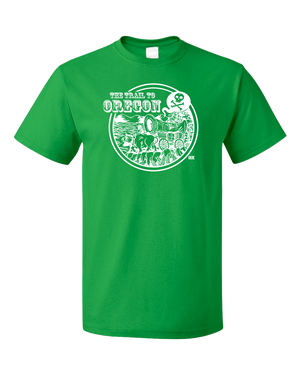 Standard Green StarKid Trail to Oregon Happy Trails  T-shirt