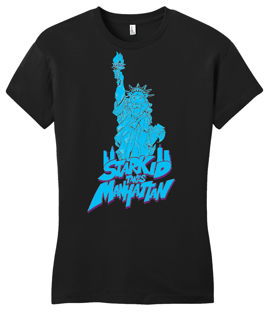 Girly Black StarKid Takes Manhattan Rumbleroar Statue of Liberty T-shirt