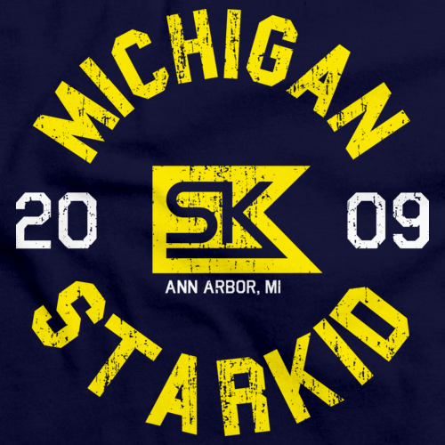 StarKid 2009 Michigan Reunion Navy Triblend Art Preview