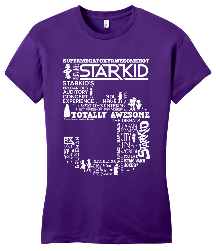 Girly Purple StarKid 5th Anniversary Hoodie T-shirt