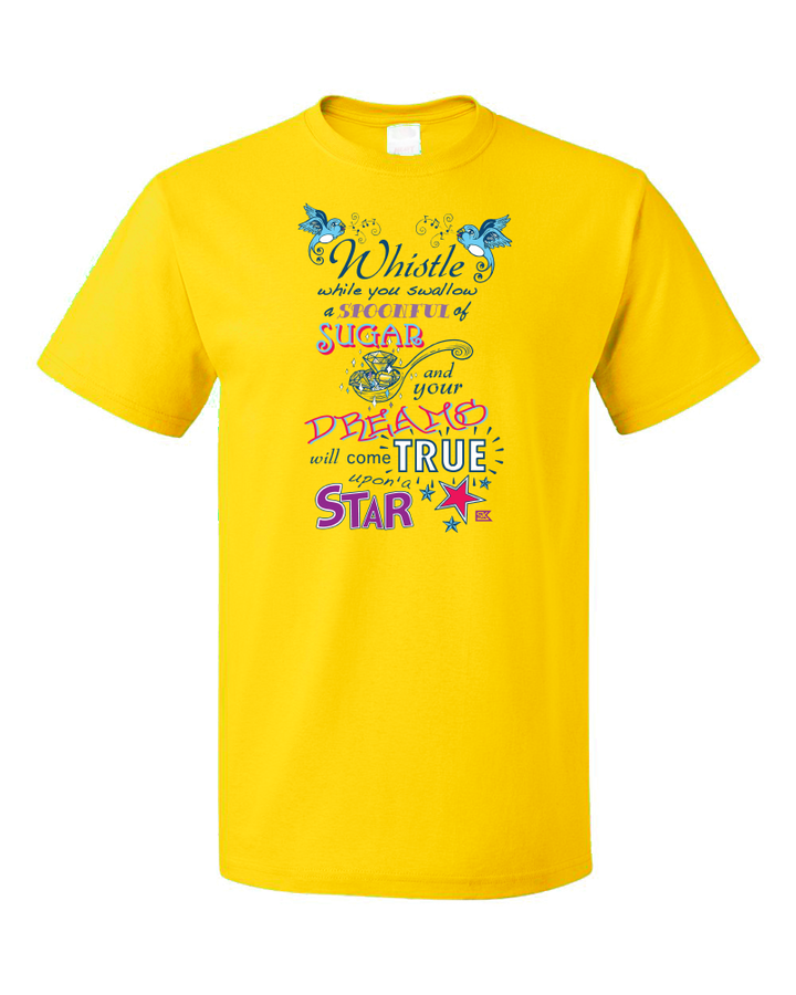 Standard Yellow StarKid Twisted Spoonful Lyrics Tee T-shirt