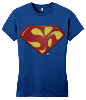 Girly Royal Starkid Holy Musical, B@man! Superman Logo T-shirt
