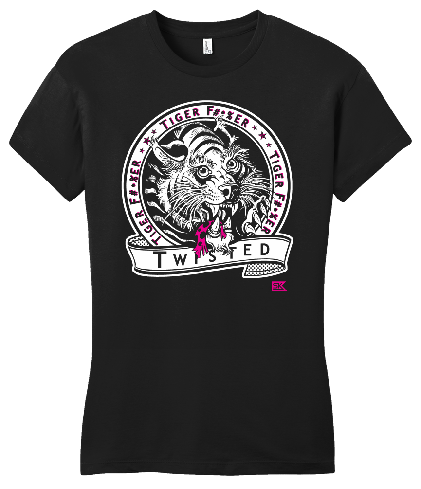 Girly Black StarKid Twisted Tiger Lover T-shirt