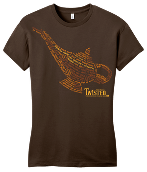 Girly Brown StarKid Twisted Lamp Lyrics Tee T-shirt