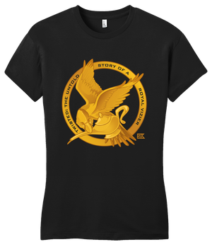 Girly Black StarKid Twisted Mockingjay Logo Tee T-shirt