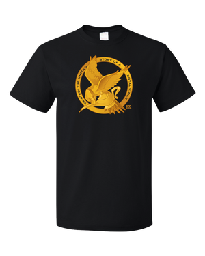 Standard Black StarKid Twisted Mockingjay Logo Tee T-shirt