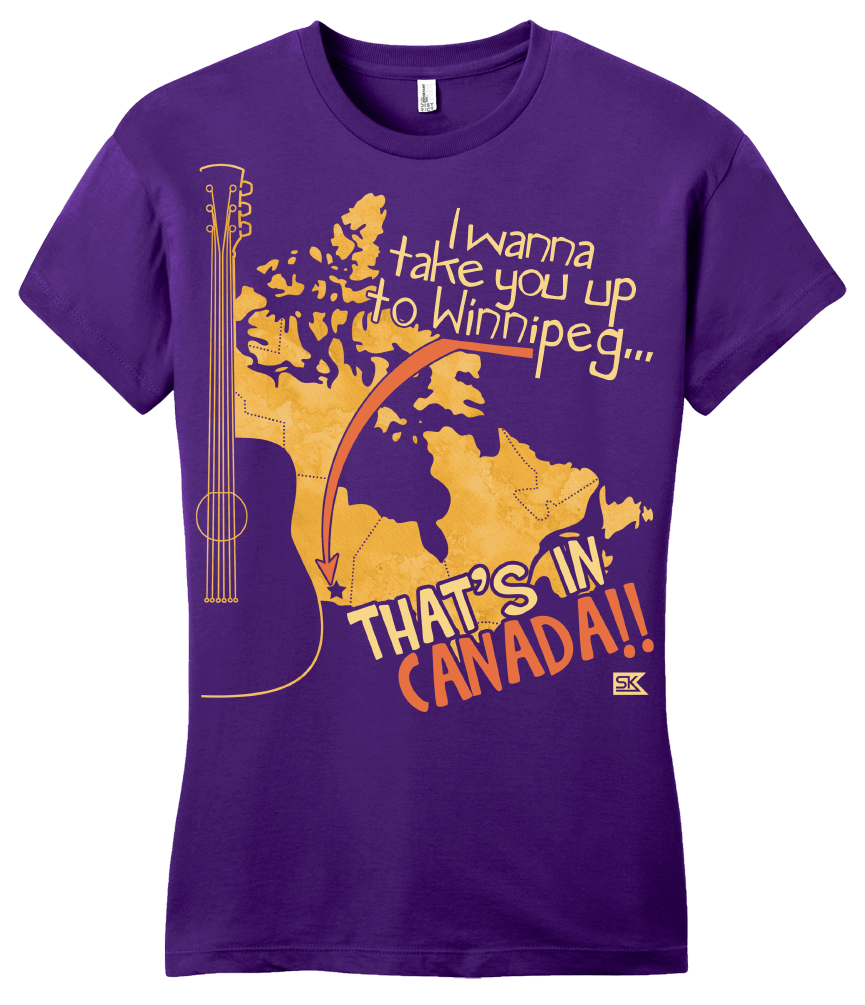 "Girly Purple Starkid Winnipeg ""That's In Canada"" T-shirt"