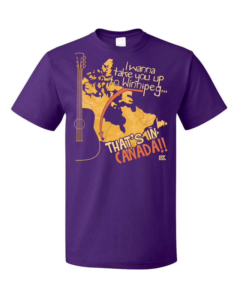 "Standard Purple Starkid Winnipeg ""That's In Canada"" T-shirt"