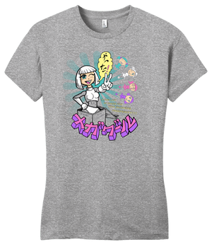 Girly Grey StarKid Starship Megagirl Anime T-shirt