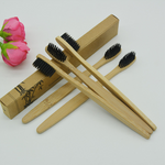 Bamboo Toothbrush w/ Charcoal Bristles (2 Pack)