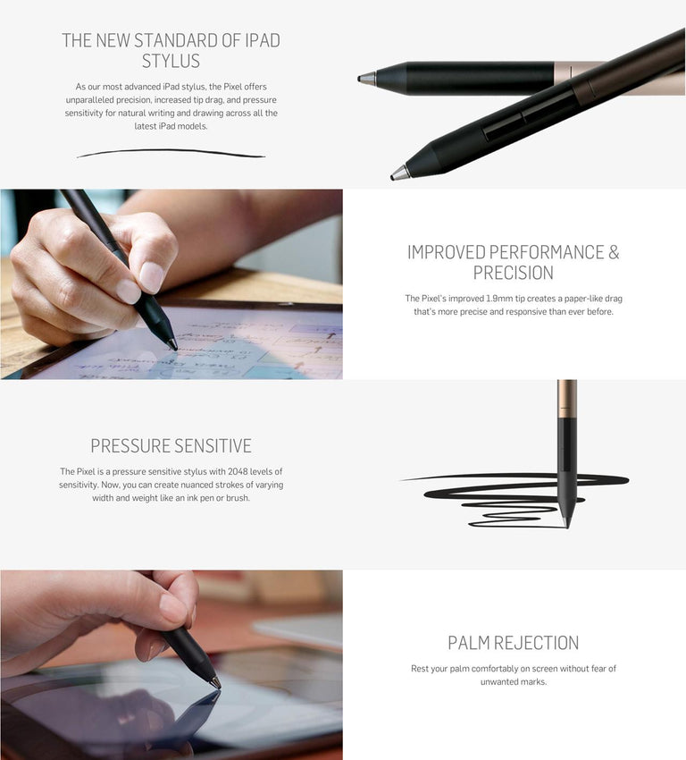 Adonit Pixel Pressure - Sensitive Stylus (Bluetooth)