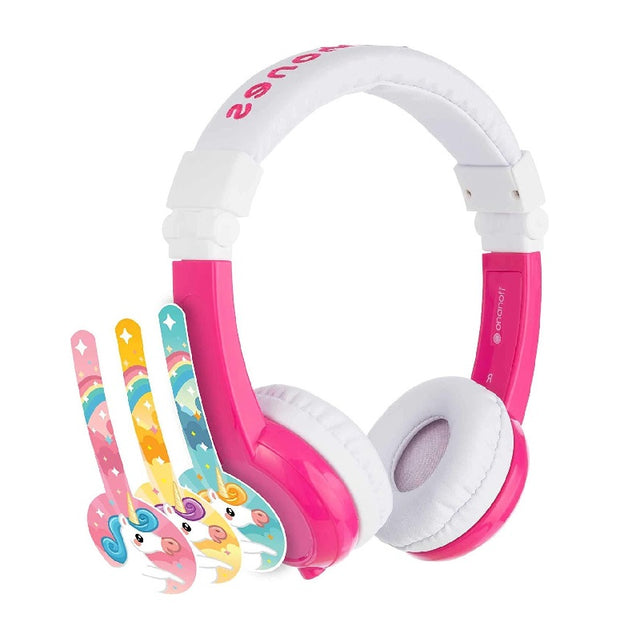 BuddyPhones Unicorn Foldable with Mic Kids Headphones