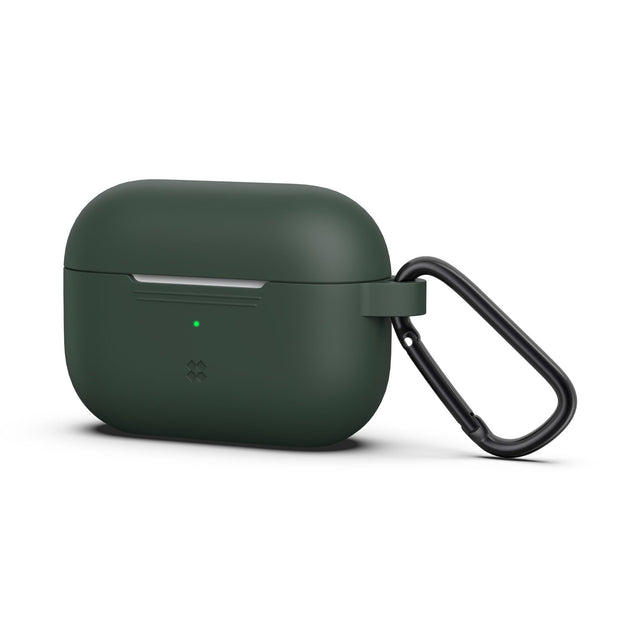 CaseStudi Ultraslim Airpod Pro Case - Midnight Green (with carabiner)
