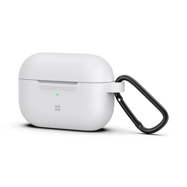 CaseStudi Ultraslim Airpod Pro Case - White (with carabiner)