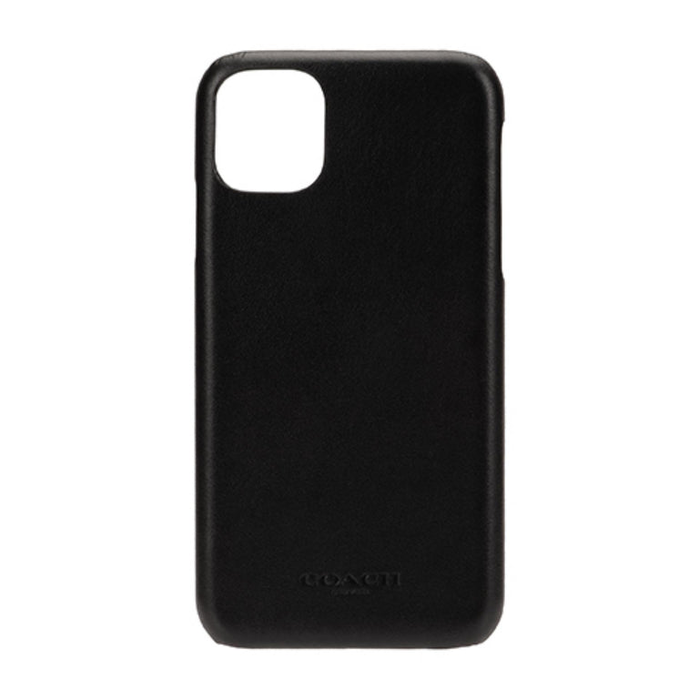 Coach New York Phone Case iPhone 11 - Slim Wrap Leather Midnight Black