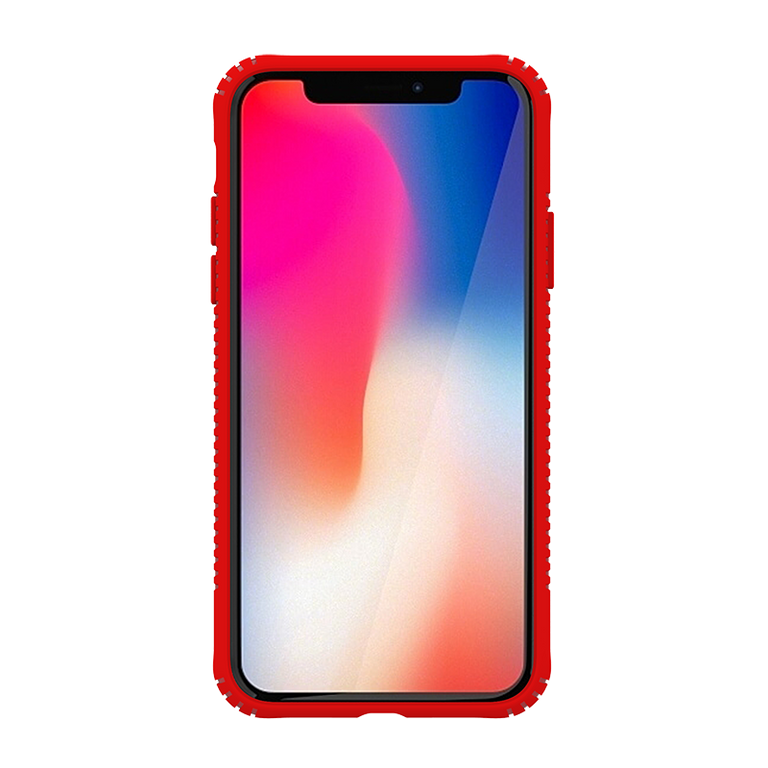 Gosh Glass Hybrid Iphone Case For iPhone X - Red