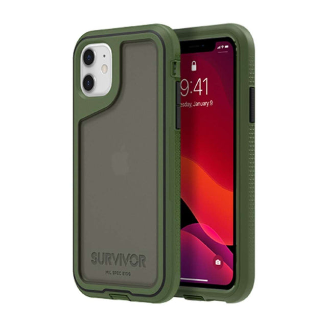 Griffin Survivor Extreme Phone Case iPhone 11 - Green/Black/Smoke
