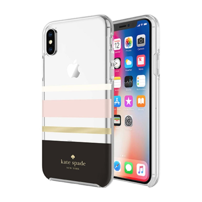 Kate Spade New York Hardshell Case For iPhone X - Charlotte Stripe Multicolor