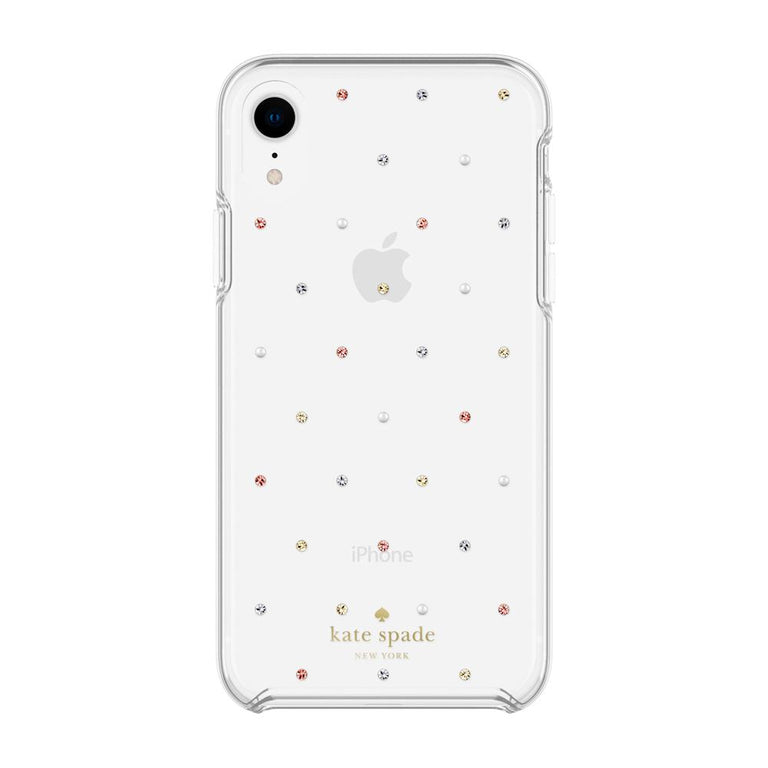 Kate Spade New York Hardshell Pin Dot Case For iPhone XR - Gems/Pearls/Clear