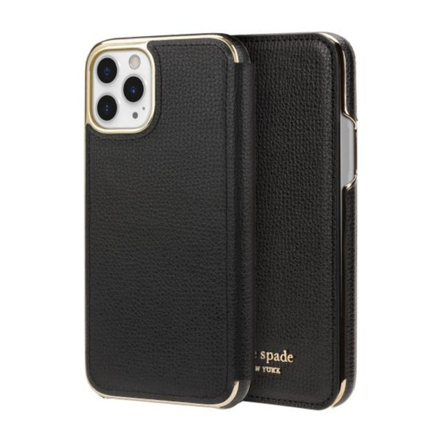 Kate Spade New York Phone Case iPhone 11 - Folio Black PU