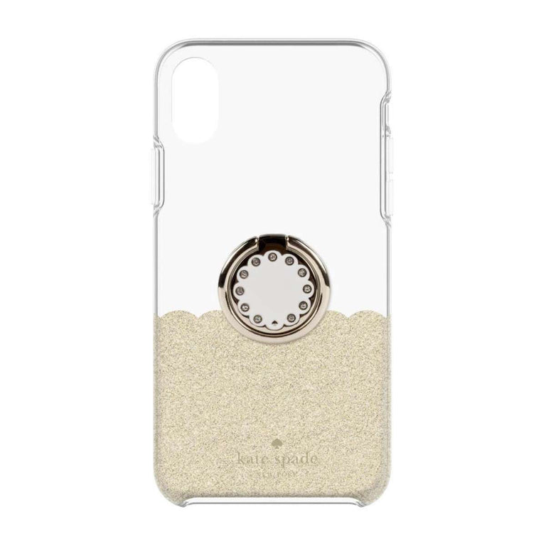 Kate Spade New York Protective Case + Ring Set For iPhone X - Gold Scallop