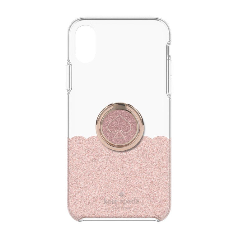 Kate Spade New York Protective Case + Ring Set For iPhone X - Rose Gold Scallop