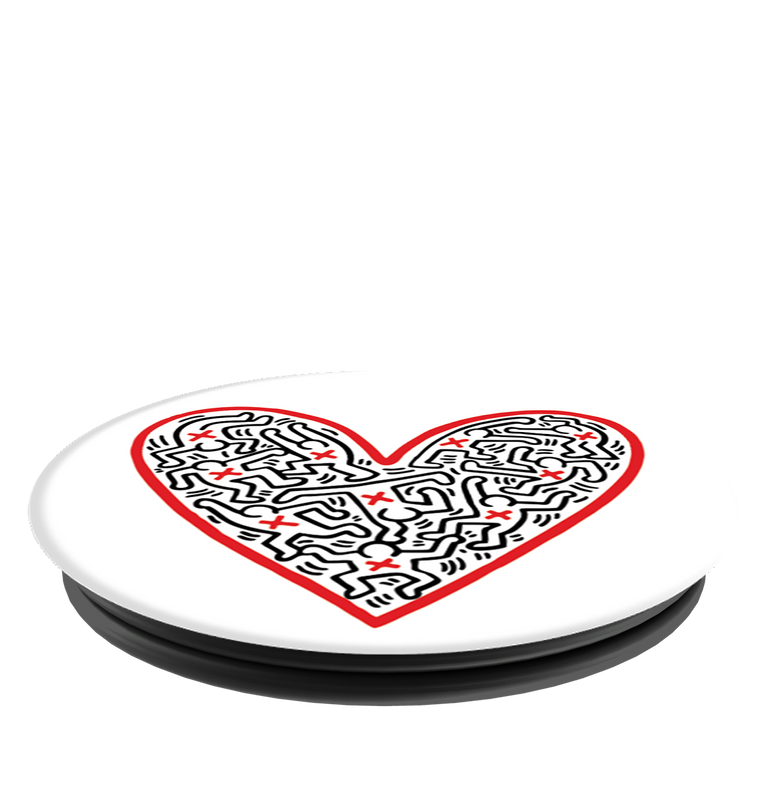 PopSockets PopGrips Keith Haring Figures In A Heart