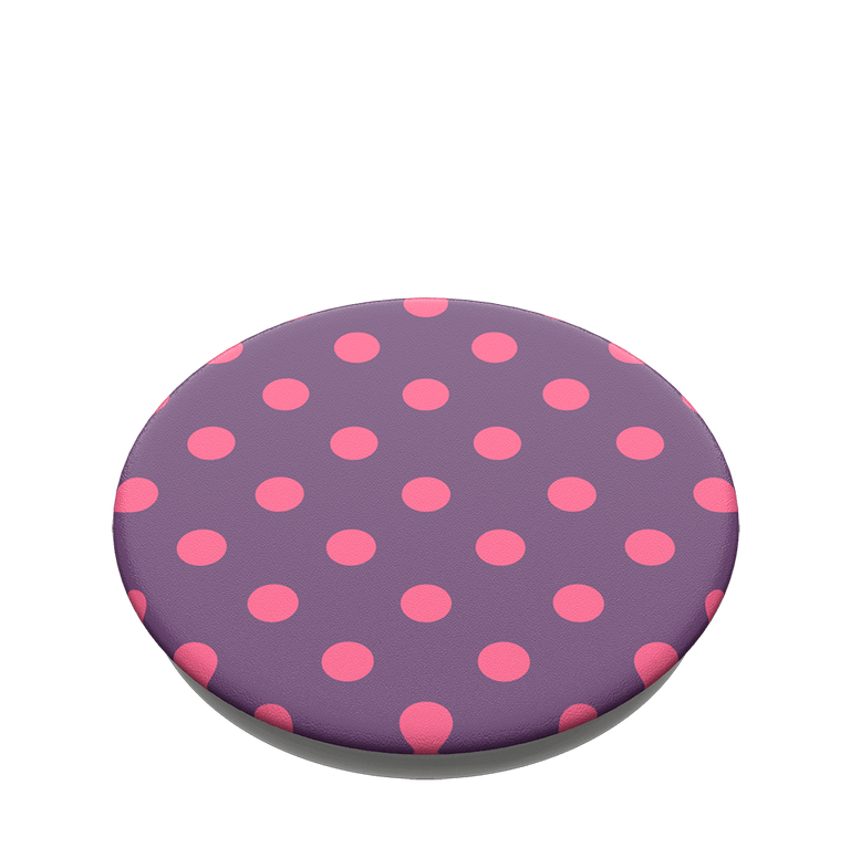 PopSockets PopGrips Polka Time Purple