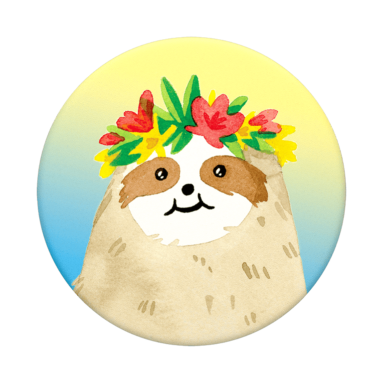 PopSockets Swappable PopGrips Aloha Sloth Gradient