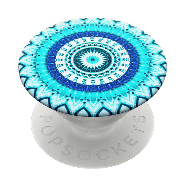 PopSockets Swappable PopGrips Blue Floral Mandala