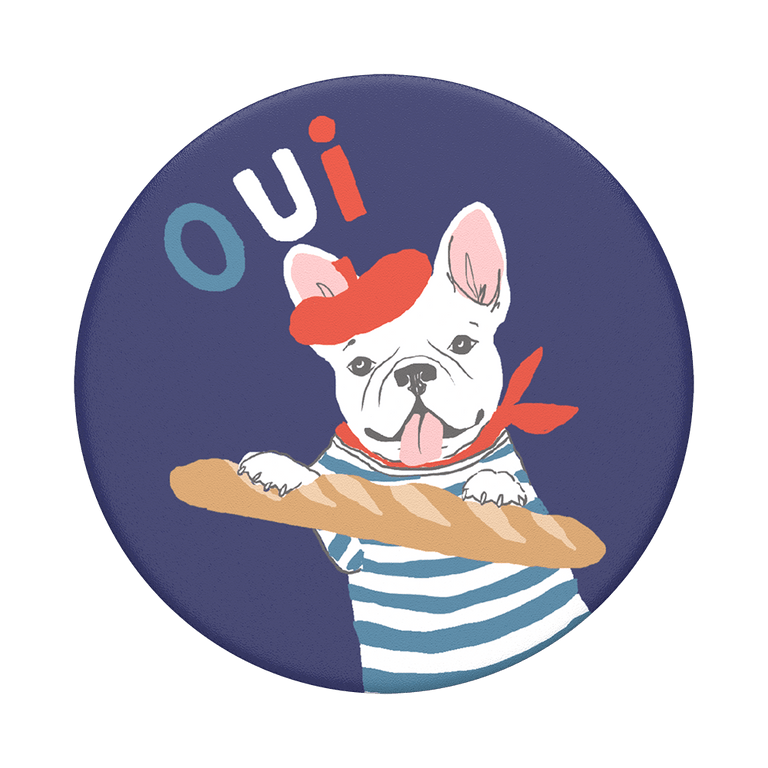PopSockets Swappable PopGrips Frenchie