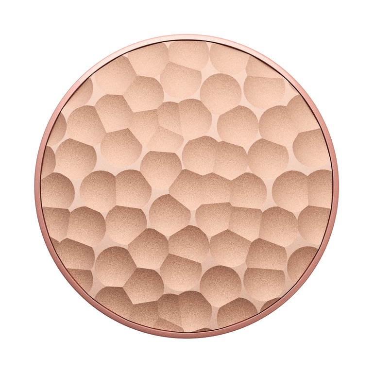 PopSockets Swappable PopGrips Hammered Metal Rose Gold