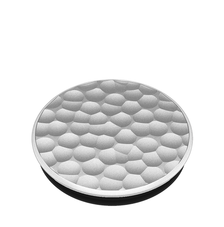 PopSockets Swappable PopGrips Hammered Metal Silver