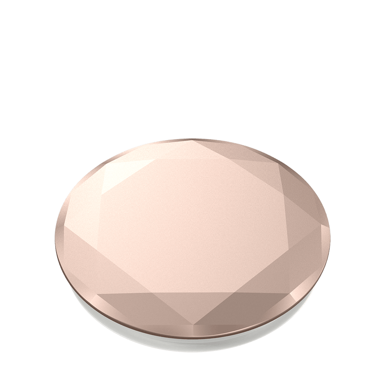 PopSockets Swappable PopGrips Metallic Diamond Rose Gold