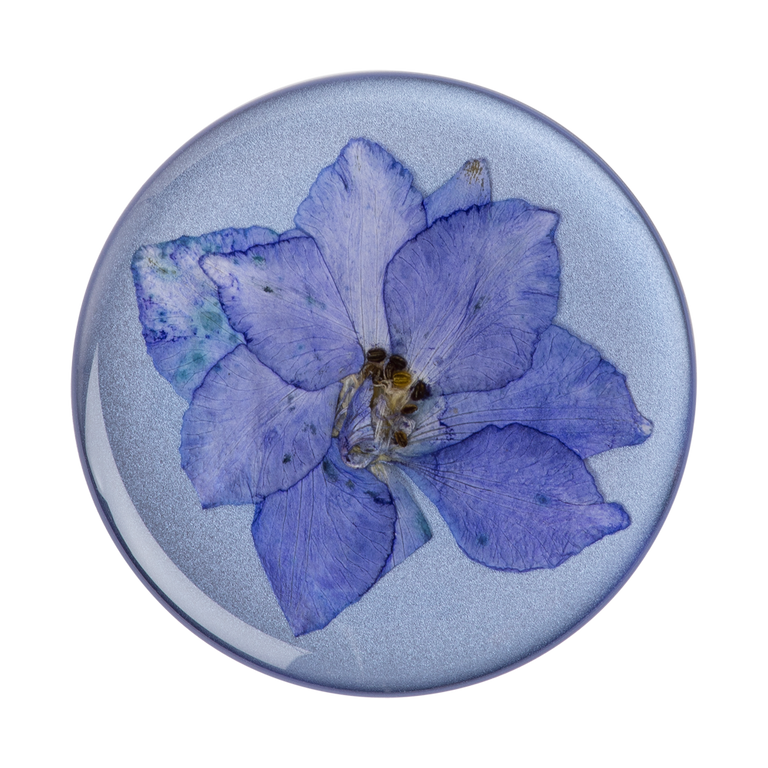 PopSockets Swappable PopGrips Pressed Flower Larkspur Purple