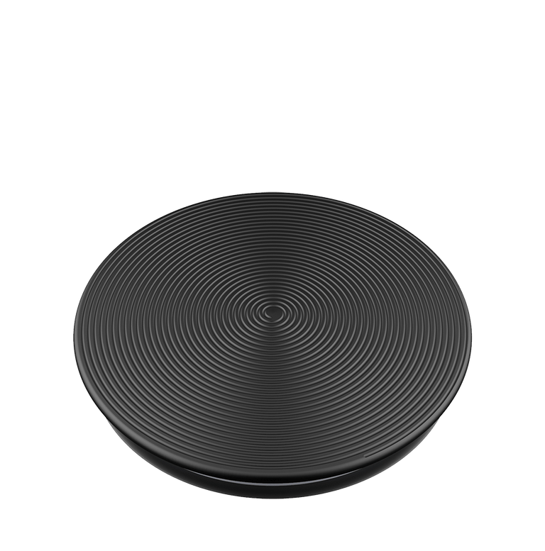PopSockets Swappable PopGrips Twist Black Aluminum