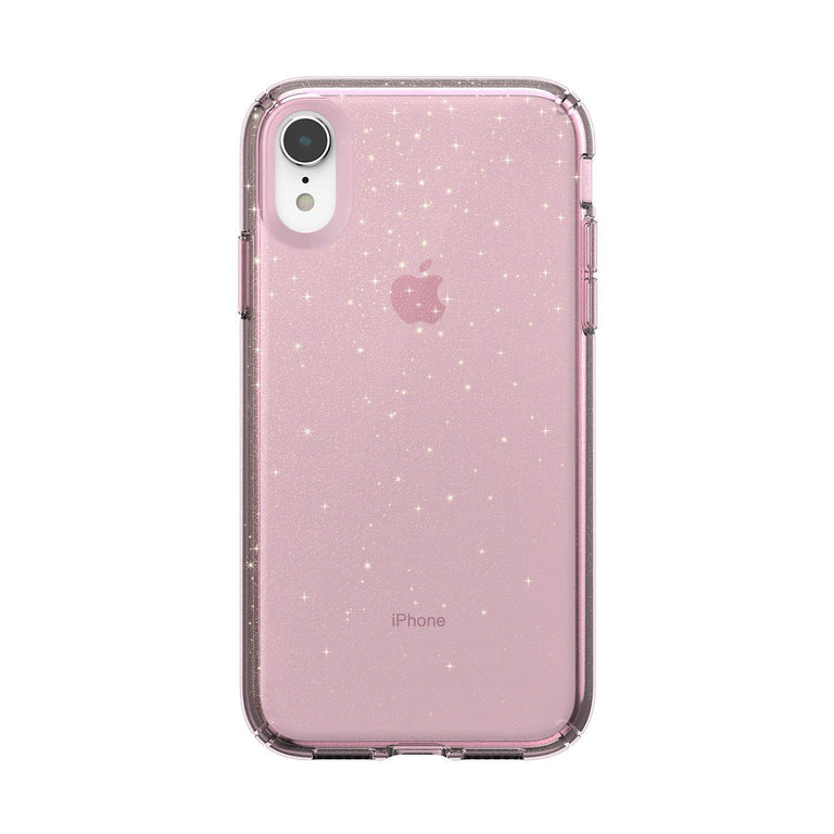 Speck Presidio Clear Glitter Phone Case For iPhone X - Bella Pink/Gold Glitter
