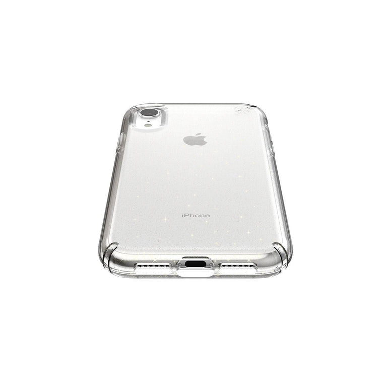 Speck Presidio Clear Glitter Phone Case For iPhone X - Clear/Gold Glitter