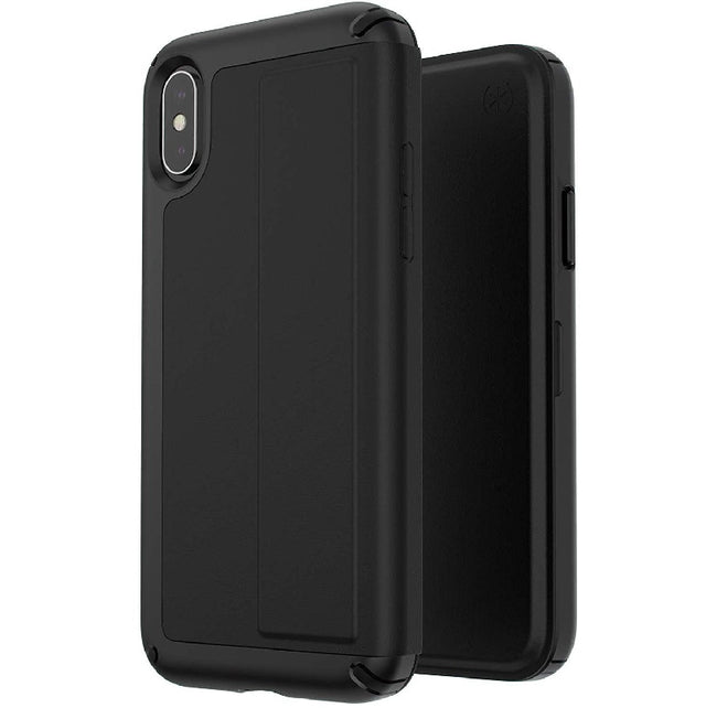 Speck Presidio Folio Leather Phone Case For iPhone X - Black