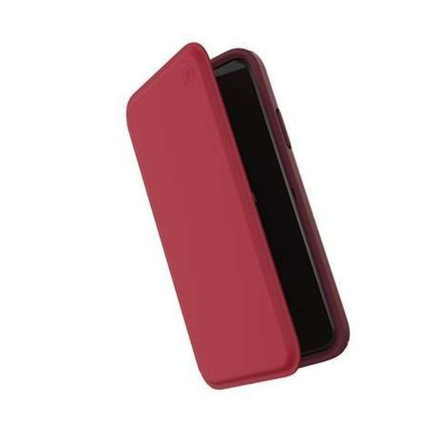 Speck Presidio Folio Leather Phone Case For iPhone X - Red