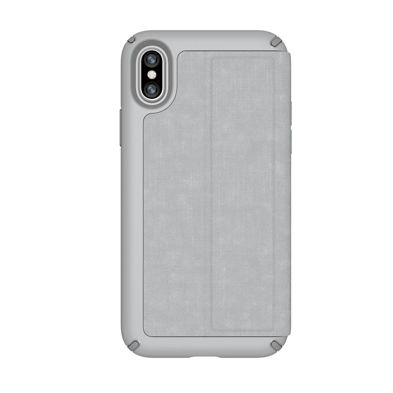 Speck Presidio Folio Phone Case For iPhone X - Dolphin Grey/Concrete Grey