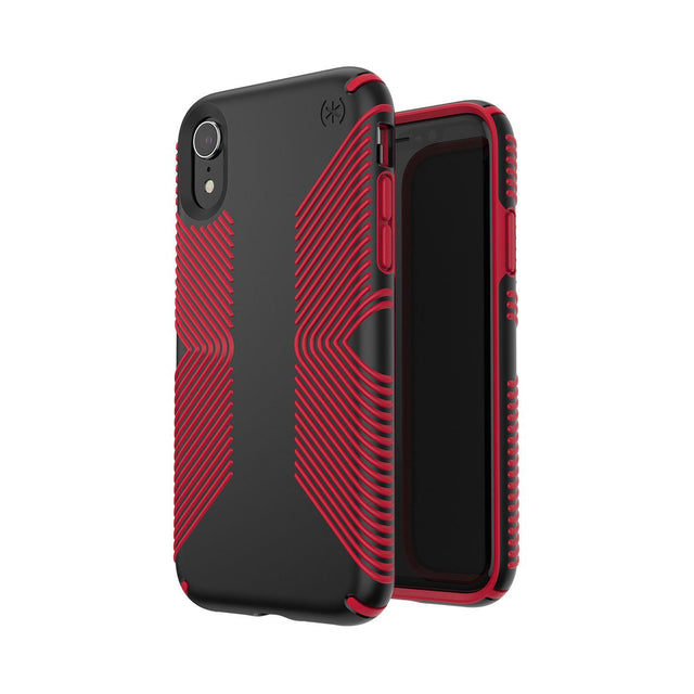 Speck Presidio Grip Phone Case For iPhone X - Black/Dark Poppy Red